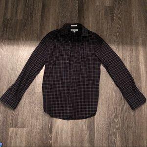 Express extra slim fit plaid shirt